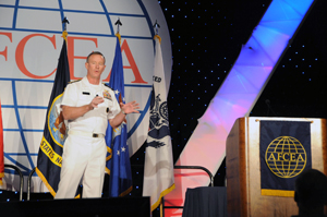 Adm. William H. McRaven speaks at the LandWarNet conference