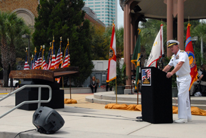 Adm. McRaven delivers keynote address at 9/11 remembrance ceremony