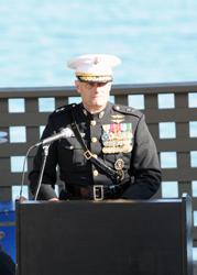 Maj. Gen. Mark Clark speaks at 9/11 ceremony.