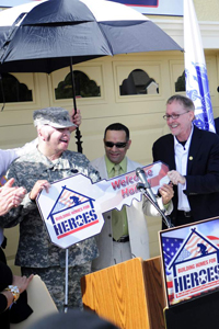 Sgt. Tavera receives new key to his home