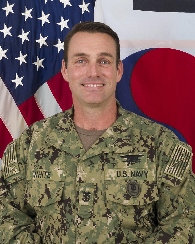 Senior Enlisted Leader, SOCKOR, Command Master Chief Petty Officer Stephen D. White